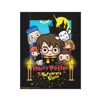 Cartoon Harry Potter and the Sorcerer's Stone Canvas Print