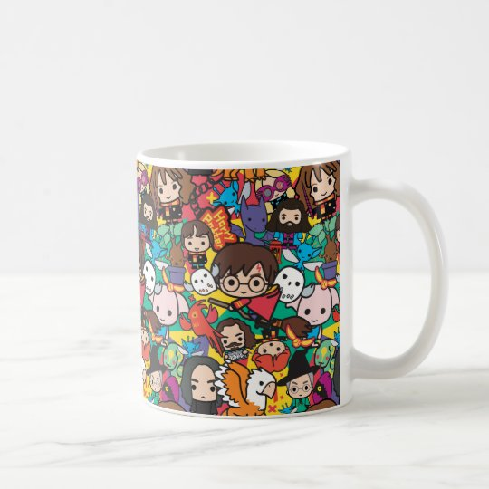 Cartoon Harry Potter Character Toss Pattern Coffee Mug