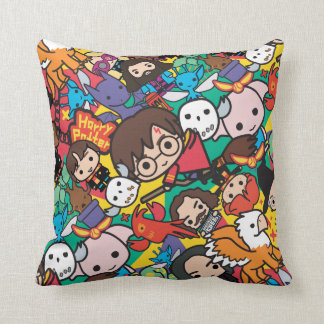 Cartoon Harry Potter Character Toss Pattern Cushion