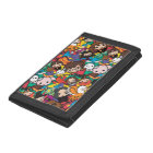 Cartoon Harry Potter Character Toss Pattern Trifold Wallet