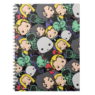 Cartoon Harry Potter Death Eaters Toss Pattern Notebook