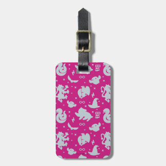 Cartoon Harry Potter Magic Icons Toss Pattern Luggage Tag