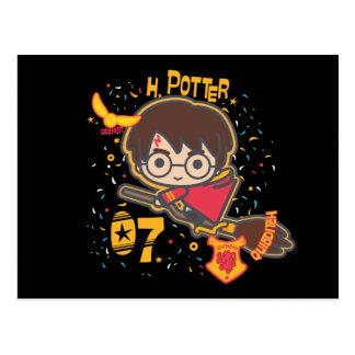 Cartoon Harry Potter Quidditch Seeker Postcard
