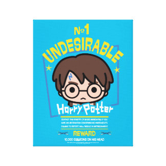 Cartoon Harry Potter Wanted Poster Graphic Canvas Print