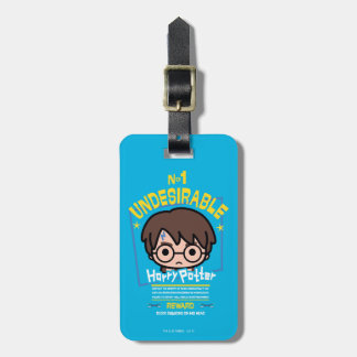 Cartoon Harry Potter Wanted Poster Graphic Luggage Tag