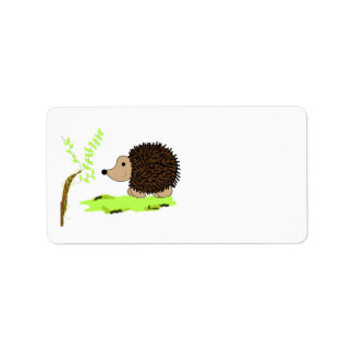 Cartoon Hedgehog Address Label