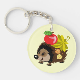 cartoon hedgehog key ring