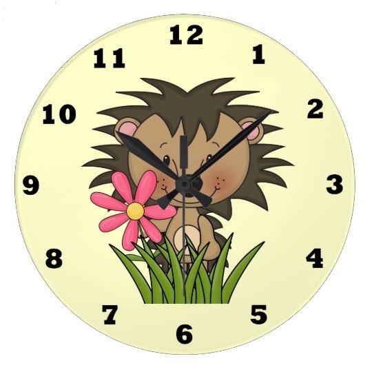 Cartoon Hedgehog kids wall clock