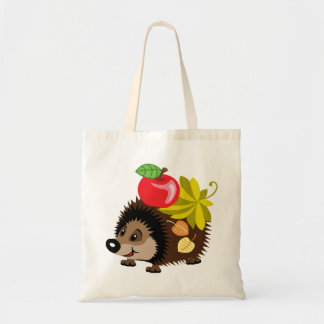 cartoon hedgehog tote bag