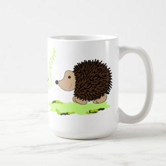 Cartoon Hedgehogs Basic White Mug