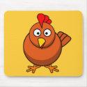Cartoon Hen Chicken mousepad