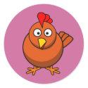 Cartoon Hen Chicken sticker