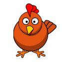 Cartoon Hen Chicken Tee shirt