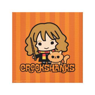 Cartoon Hermione and Crookshanks Canvas Print
