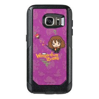 Cartoon Hermione and Ron Wingardium Leviosa Spell OtterBox Samsung Galaxy S7 Case