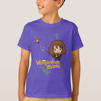 Cartoon Hermione and Ron Wingardium Leviosa Spell T-Shirt