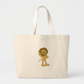 Cartoon Hip Hop Lion Doing The Dougie Jumbo Tote Bag