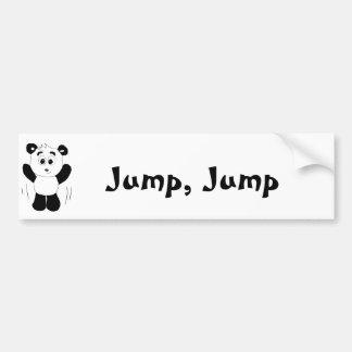 Cartoon Hip Hop Panda Bear Bumper Sticker