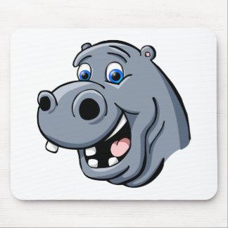 Cartoon Hippo Mouse Mat