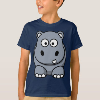 Cartoon Hippo Tee