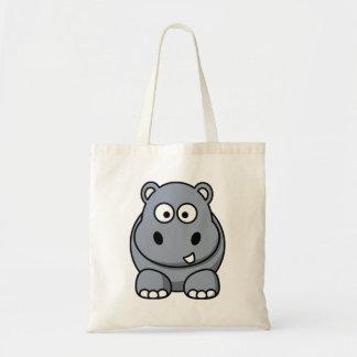 Cartoon Hippo Tote Bag
