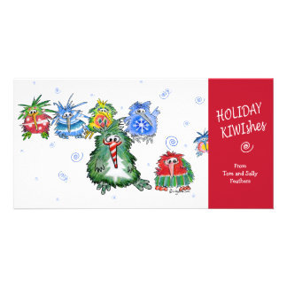 Cartoon Holiday KIWIshes Card