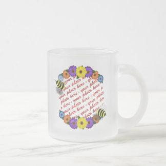 Cartoon Honey Bees Meeting Photo Frame Coffee Mugs