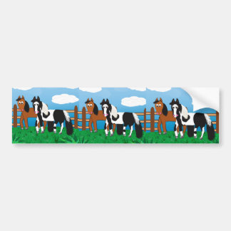 Cartoon horse bumper sticker
