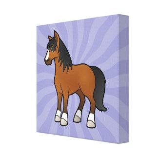 Cartoon Horse Canvas Print