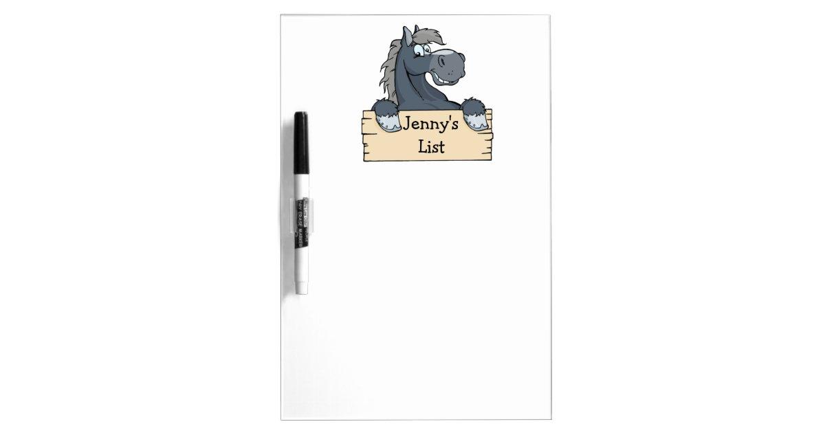 cartoon horse kids to do list dry erase board