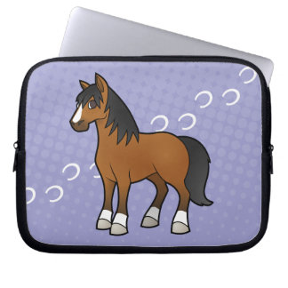 Cartoon Horse Laptop Sleeve