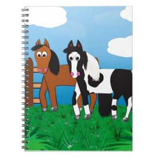 Cartoon horse notebooks