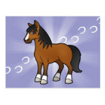 Cartoon Horse Postcard