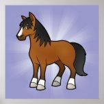 Cartoon Horse Poster