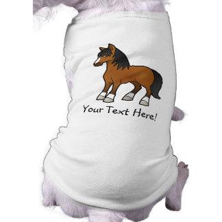 Cartoon Horse Sleeveless Dog Shirt