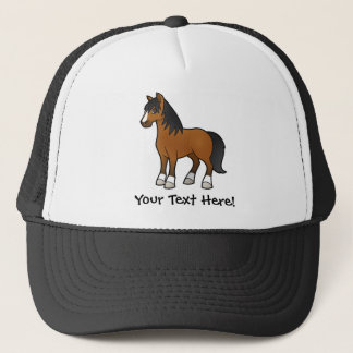 Cartoon Horse Trucker Hat