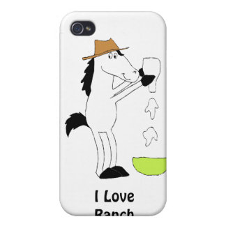 Cartoon Horse With Ranch Dressing Cover For iPhone 4