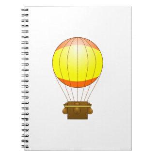 Cartoon Hot Air Ballon Spiral Note Books