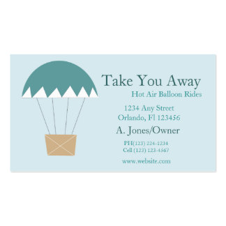 Cartoon Hot Air Balloon Rides Double-Sided Standard Business Cards (Pack Of 100)