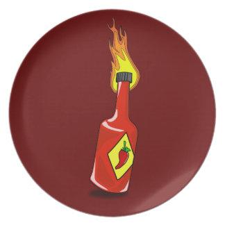 Cartoon Hot Sauce Plate