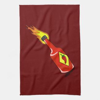 Cartoon Hot Sauce Tea Towel
