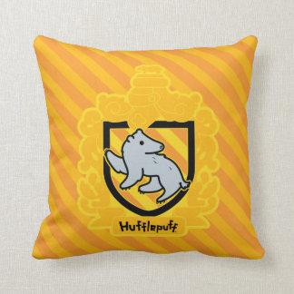 Cartoon Hufflepuff Crest Cushion