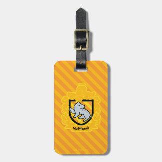 Cartoon Hufflepuff Crest Luggage Tag
