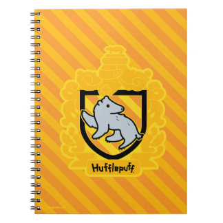 Cartoon Hufflepuff Crest Notebooks