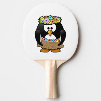 Cartoon Hula Penguin Ping-Pong Paddle