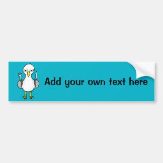 Cartoon Hungry Seagull Bumper Sticker