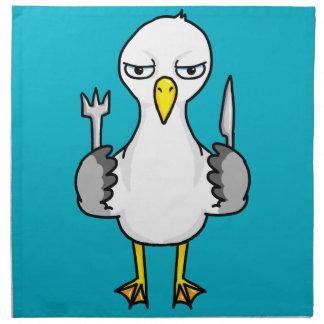 Cartoon Hungry Seagull Napkin