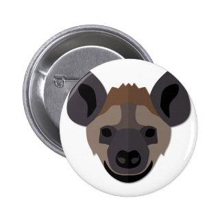 Cartoon Hyena Head 6 Cm Round Badge