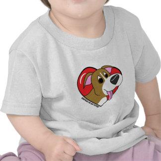 Cartoon I Love my Pit Bull Baby T-Shirt
