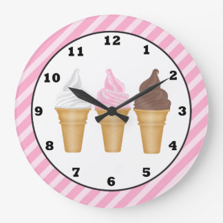 Cartoon Ice Cream wall clock